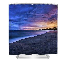 Aliso Beach Lights Shower Curtain