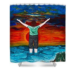 Shower Curtain featuring the painting Alive by Cheryl Bailey