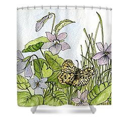 Alive In A Spring Garden Shower Curtain