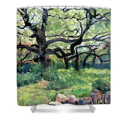 Alive Oaks Shower Curtain