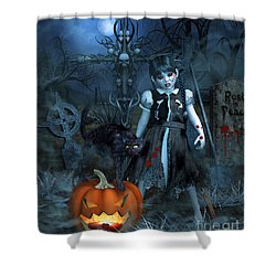 Alive Or Undead Shower Curtain by Jutta Maria Pusl