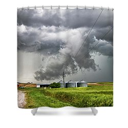 Alive Sky In Wyoming Shower Curtain