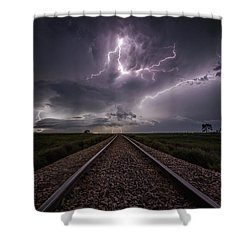 Shower Curtain featuring the photograph All Aboard  by Aaron J Groen