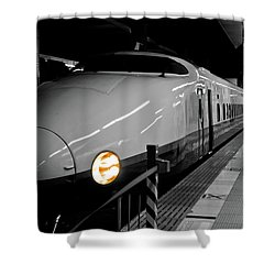 All Aboard Shower Curtain by Sebastian Musial