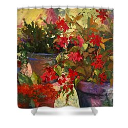 All About Red Shower Curtain