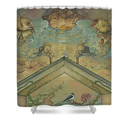 All Adrift Shower Curtain by Andrew Batcheller