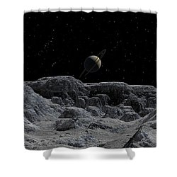All Alone Shower Curtain by David Robinson