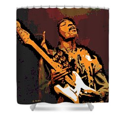 All Along The Watchtower Shower Curtain by George Pedro