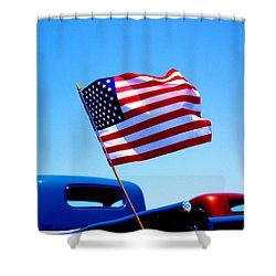 All American Shower Curtain by Ralph Vazquez