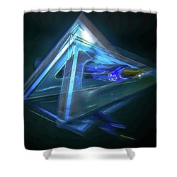 All Angles Covered Shower Curtain by Mark Dunton