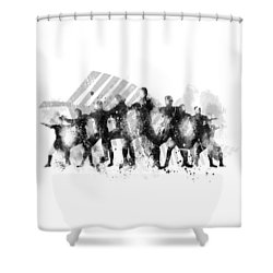 All Blacks Haka Shower Curtain