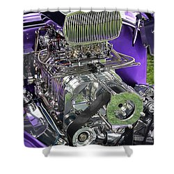 All Chromed Engine With Blower Shower Curtain