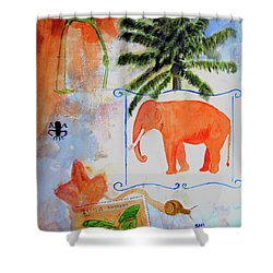 Shower Curtain featuring the painting All Creatures Great And Small by Sandy McIntire