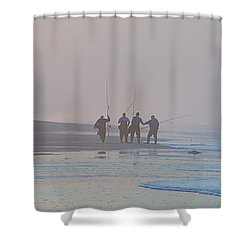 Shower Curtain featuring the photograph All Done by  Newwwman