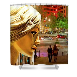 All Dressed Up And No Place To Go Shower Curtain by Chuck Staley