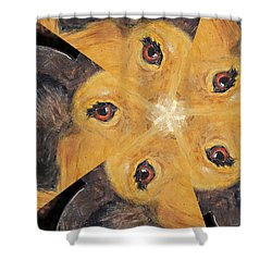 All Eyes And Ears Shower Curtain