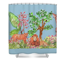 All Is Well In The Jungle Shower Curtain