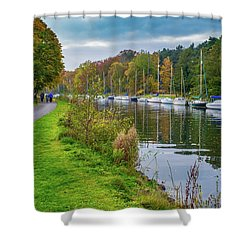 All Moored Up Shower Curtain