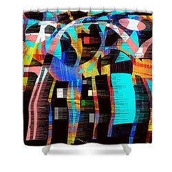 Shower Curtain featuring the digital art Soul Searching by Yul Olaivar