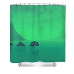 All Quiet In The Loch Shower Curtain by Lyle Hatch