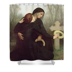 All Saints Day Shower Curtain by William Adolphe Bouguereau