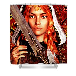 Shower Curtain featuring the painting All Souls Day Saint Dymphna by Suzanne Silvir