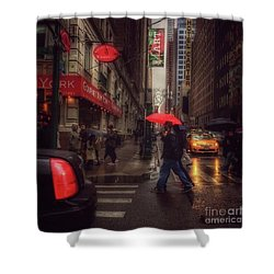 All That Jazz. New York In The Rain. Shower Curtain