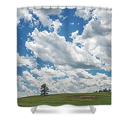 All The Livelong Day  Shower Curtain