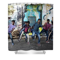 All The Moves Shower Curtain