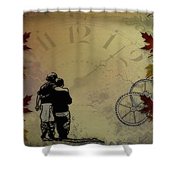 All The Time In The World Shower Curtain by Bill Cannon
