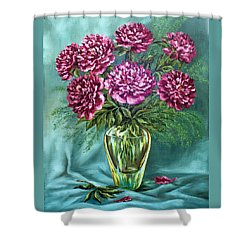 Shower Curtain featuring the painting All Things Beautiful by Karen Showell