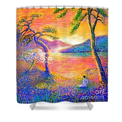 Buddha Meditation, All Things Bright And Beautiful Shower Curtain