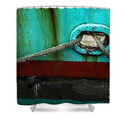All Tied Up Shower Curtain by Bob Christopher