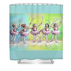 All Together Now...first Ballet Recital Shower Curtain by Laurie Shanholtzer