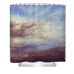 All Too Soon Shower Curtain by Valerie Travers