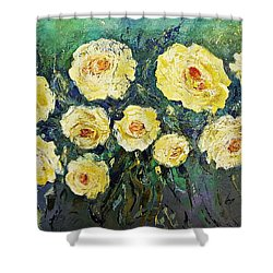 All Yellow Roses Shower Curtain