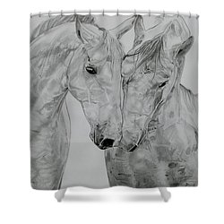 All You Need Is Love Shower Curtain by Melita Safran