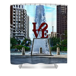 All You Need Is Love Shower Curtain by Paul Ward