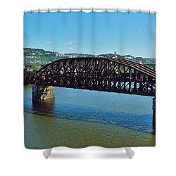 Allegheny Crossing Shower Curtain by William Bartholomew