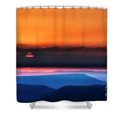 Allegheny Mountain Sunrise 2 Shower Curtain