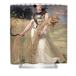 Allegory Of France Shower Curtain by Georges Louis Poilleux Saint Ange