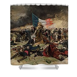Allegory Of The Siege Of Paris Shower Curtain by Jean Louis Ernest Meissonier