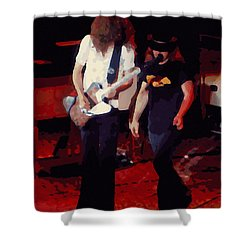 Shower Curtain featuring the photograph Allen And Ronnie Winterland 1 by Ben Upham