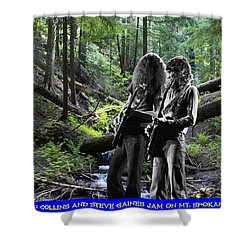 Shower Curtain featuring the photograph Allen And Steve On Mt. Spokane by Ben Upham