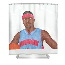 Allen Iverson Shower Curtain by Toni Jaso