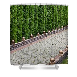 Shower Curtain featuring the photograph Alley by Andrey  Godyaykin