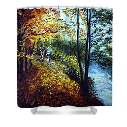 Alley By The Lake 1 Shower Curtain