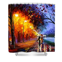 Alley By The Lake Shower Curtain by Leonid Afremov