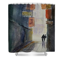 Alley In Chinatown Shower Curtain by Tom Simmons