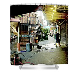 Alley Market End Of Day Shower Curtain